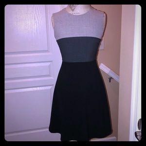 EUC Calvin Klein Gray Colorblock Dress - 4P